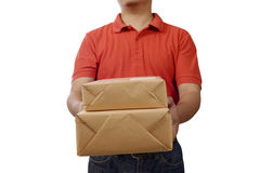 Hand Deliver A Package Stock Images