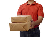 Hand Deliver A Package Stock Image