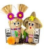 Hand - den gjorda leksaken är en simbol av wellnessen och hem- skydd Royaltyfri Bild