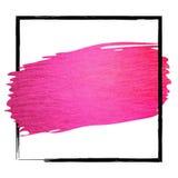 Hand - den gjorda slaglängden för vektorrosa färgmålarfärg blänker textur vektor illustrationer