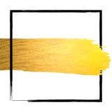 Hand - den guld- gjorda vektorn blänker slaglängden royaltyfri illustrationer