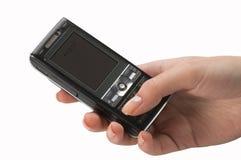 hand den mobila telefonen Royaltyfria Foton