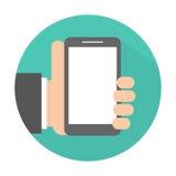 hand den mobila telefonen Royaltyfri Bild