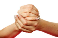 Hand depicting many gestures Royalty Free Stock Photos