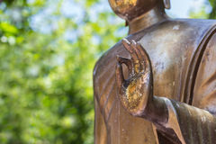 Hand der Buddha-Statue Lizenzfreies Stockfoto