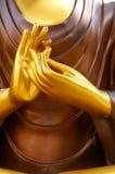 Hand der Buddha-Statue Stockbilder