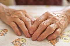 Hand der Frau Stockbild