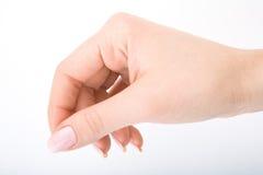 Hand der Frau Stockfotos