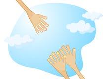 Hand der Hilfe vektor abbildung