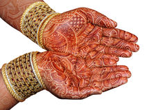 Hand der indischen Braut Stockfotografie