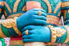 Hand der riesigen Statuen lizenzfreies stockbild