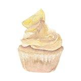 Hand des Aquarellkleinen kuchens gezeichnet Lizenzfreies Stockfoto