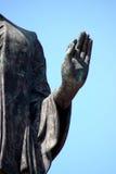 Hand des Buddha-Bildes lizenzfreie stockfotos
