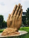 Hand des Friedens u. des Respektes stockbilder