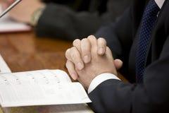Hand des Geschäftsmannes Lizenzfreies Stockfoto