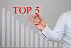 Hand des Geschäftsmannes Write ein Text von TOP5 stockfotos