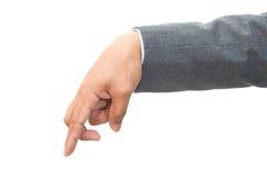 Hand des Geschäftsmannes Stockbild