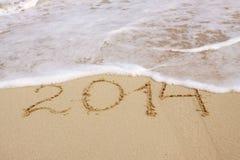 Hand des Jahres 2014 geschrieben Lizenzfreies Stockfoto