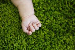 Hand des kleinen Babys Stockfoto