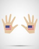 Hand desig nunited states flag Royalty Free Stock Photo