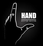 Hand design Royalty Free Stock Image