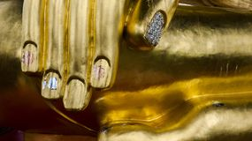 Hand detail of big Buddha Stock Photo