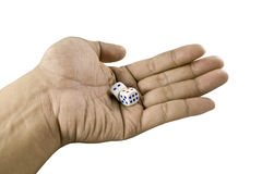 Hand Dice Royalty Free Stock Photography