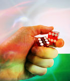 Hand dice Stock Images