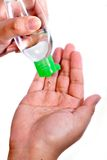 Hand die 01 wast Stock Foto's