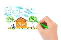 Hand, die Abbildung skizziert Lizenzfreie Stockbilder