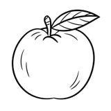 Hand, die Apple - Vektor-Illustration zeichnet Lizenzfreie Stockfotografie