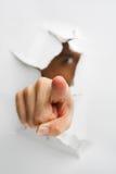 Hand, die auf Kamera zeigt Lizenzfreie Stockbilder