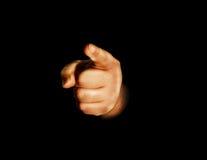 Hand, die auf Sie zeigt lizenzfreies stockbild