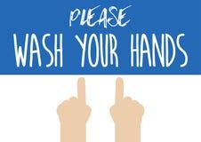 Hand, die auf Wäscheseifenspender zeigt Ep10 Stockfotografie