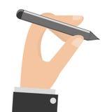 Hand, die Bleistift hält Stockfotos