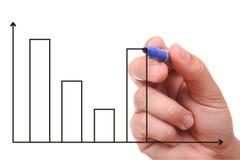 Hand, die Diagramm zeigt Lizenzfreie Stockfotos