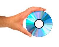 Hand, die Digitalschallplatte anhält lizenzfreies stockbild