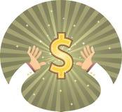 Hand die Dollar bereikt Royalty-vrije Stock Afbeelding