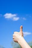 Hand die duim opgeeft Royalty-vrije Stock Afbeelding