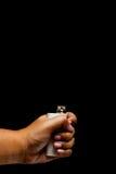 Hand die e-cigarette/e-cig/vape gebruiken Stock Afbeelding
