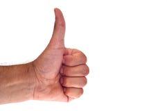 Hand die een o.k. handteken tonen Stock Afbeeldingen