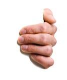 Hand die een teken houdt Royalty-vrije Stock Foto