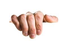 Hand die een teken houdt Stock Fotografie