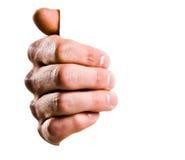 Hand, die ein Zeichen anhält Lizenzfreies Stockfoto