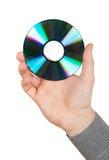 Hand, die eine Computerplatte anhält Lizenzfreies Stockbild