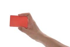 Hand, die eine Kreditkarte anhält Stockfotos