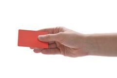 Hand, die eine Kreditkarte anhält Lizenzfreie Stockfotografie