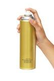 Hand, die eine Spraydose hält Stockbild