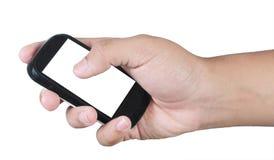 Hand, die einen Handy anhält Lizenzfreie Stockbilder