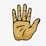Hand, die fünf Finger zeigt Stockbild